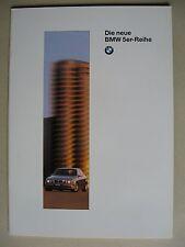 Prospekt BMW 5er E39 Limousine 520i 523i 528i 525tds Modelle 1995 1996 deutsch