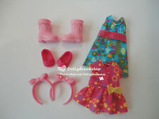 Doll Accessory ~ Barbie Sister Kelly or Friends doll dress & shoes 2sets#K-011