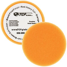 "6.5"" Orange Flat Medium Cut Grip Foam Polish Buff Pad DA Hook & Loop Car Detail"