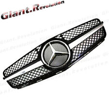 Black 1 Fin Air Vent Front Grille For 08-11 BENZ W204 C200 C300 C350 Sedan 4Door