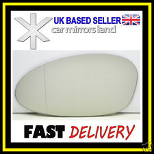 Left Passenger Side Wing Car Mirror Glass Wide Angle  BMW SERIES 1 04-09
