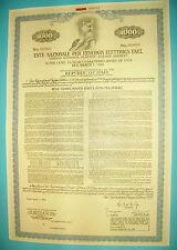 ENEL ENTE NAZIONALE PER L`ENERGIA ELETTRICA 1000 DOLLARI OBBLIGAZIONI 1970-1985
