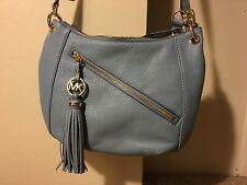 Michael Kors handbag Powder Blue Charm Tassel style Convertible Strap NEW $258