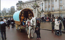 Romany Cannon's London Parade 2015 Reading Vardo Caravan,Bow Top Wagon postcard