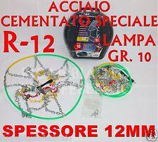 Catene neve 12MM Lampa Gr.10 16030 adattabili a Fiat Ducato Pneumatico 215/70R15