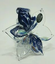 Murano Art Glass Flower Sculpture Italian Hand Blown Valentine's Home Decor 11