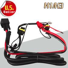 1X H1 H3 HID Headlights Conversion Kit  Hi/Low Single Beam Relay Wiring Harness