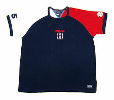 VTG 90S TOMMY HILFIGER USA FLAG JEANS SHIRT COLORBLOCK AALIYAH SPORT 1996 POLO