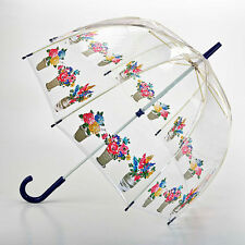 Cath Kidston Birdcage Clear Dome Umbrella - Flower Pots