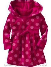 ~NWT girls 5 baby GAP kids VELOUR COLLECTION hot pink DOTS hooded HOODIE DRESS~