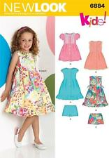 NEW LOOK SEWING PATTERN CHILDS' DRESS DRESSES & SHORTS SIZE 3 - 8  6884