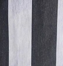 BRAND NEW BLACK AND GREY WITH SILVER GLITTER STRIPE (TEXTURED VINYL)