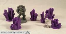 HC3D - Crystals PURPLE Small 6 Pack - Wargames - Terrain - Scenery - Fantasy