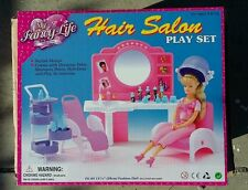 Fancy Life DOLLHOUSE FURNITURE Size Beauty Hair Salon PLAYSET For Barbie