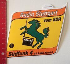 Autocollant/sticker: radio stuttgart du sdr-südfunk 4 (080316187)