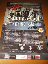 Saving Abel Art of Dying Black Lite District Rock 4 Revival Tour Poster Signed