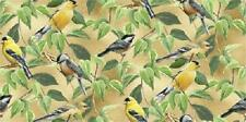 Fat Quarter Wild Wings Fruit Of The Vine Finches & Chickadees Quilting Fabric