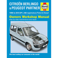 [4281] Citroen Berlingo 1.4 1.6 Pet 1.6 1.8 1.9 2.0 Dsl 96-10 (P to 60 R) Haynes