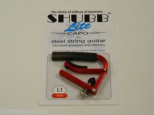 Shubb Lite  L1 Red Guitar Capo Acoustic Electric  New  ~Free U.S. Shipping~