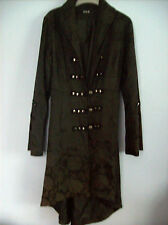 Coat Ladies Goth Gothic Jacket Coat Black & Grey Patterned by H  & R New