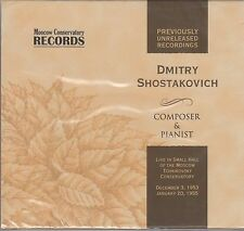 SHOSTAKOVICH BEETHOVEN QUARTET Shostakovich PREVIOUSLY UNRELEASED REC. CD RUS