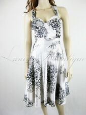RRP$450 CHARLIE BROWN Stunning Satin Corset Dress Sz 10 M White Cocktail Races
