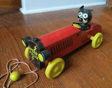 VINTAGE SPEEDY FELIX THE CAT WOODEN PULL TOY c 1920's SULLIVAN - Geo. Borgfeldt