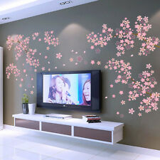 Pink Flowers Removable Vinyl Decal Wall Sticker Mural DIY Art Room Home Decor