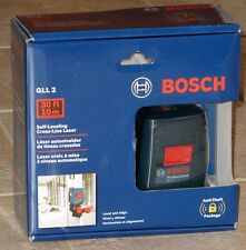 Bosch GLL 2 Self-Leveling Cross-Line Laser Level with MM 2 Mount: NEW In Box!