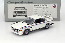 Rare Minichamps 1:18 BMW 3.0 CSL e9 Coupe 1975 White w/ stripes