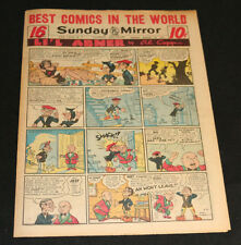 1951 Sunday Mirror Weekly Comic Section August 26th (VF) Superman Moonbeam App
