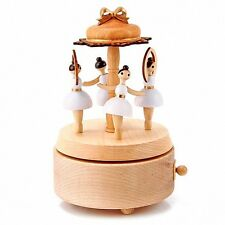 Rotating Ballet Dancer Wooden Music Box christmas gift girls ballerina art toy