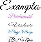 2 x Wedding Personalised Wine Glass Pint Glass Decal Stickers Special Occasion