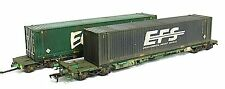Boxed Bachmann Intermodal / Freightliner container flat wagons *WEATHERED LOOK*