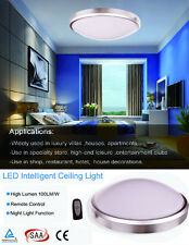22W LED Round Ceiling Light Dimmable Fixture Lamp with Distance Remote Control