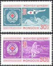 Mongolia 1969 Helicopter/Ambulance/Red Cross/Medical/Transport 2v set (n20995)