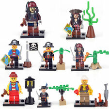 Pirates of Caribbean Assemble 8x Mini Figures w/Weapon ABS Building Brick Blocks
