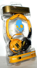 SKULLCANDY LOWRIDER IN LINE MIC HEADPHONE FOLDABLE YELLOW 40 MM DRIVER