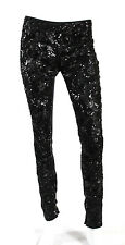 STELLA MCCARTNEY $2,165 Black Sequin Embellished Leggings Pants 40