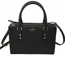 NWT $359 KATE SPADE Mulberry Street Lise Black Leather Satchel