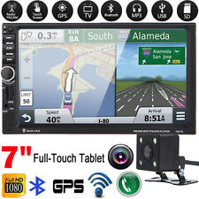 "2 DIN 7""Car GPS Nav MP3 Player TV FM Bluetooth Touchscreen Stereo Radio+Camera"