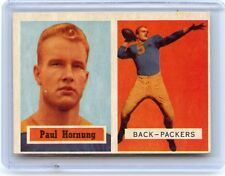 1957 TOPPS #151 PAUL HORNUNG ROOKIE FOOTBALL CARD (RC), GREEN BAY PACKERS, HOF