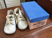 Vintage Old Child Children's Kid Leather Shoes w/ box, 1950's