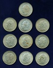NETHERLANDS EAST INDIES  1943-D  1 GULDEN SILVER COINS, NICE COINS! LOT OF (10)!