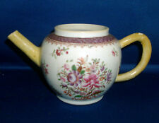 Antique 18th century Chinese Export Porcelain Famille Rose Tea Pot 1765 Teapot