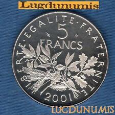 BE - 5 Francs Semeuse 2001FDC 35000 Exemplaires Provenant du Coffret BE