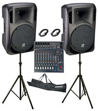"""Studiomaster Drive 15"""" 10 Channel 2400W Active Band PA System"""