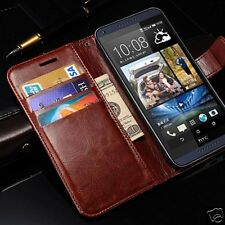 Luxury Pu Leather Book Brown  Magnetic Flip Cover Case for Htc Desire 816