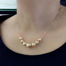 Schmuck Collier Kette champagner Perlen Rose Gold 18K pl. Weihnachtsgeschenk