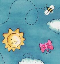 Purr-Fect Garden by Exclusively Quilters cotton quilt fabric Bees Butterfly Sky